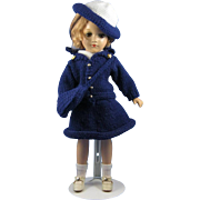 14 Inch Mary Hoyer - Blue Crochet outfit - 1940s