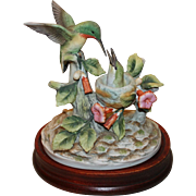 Bisque Finish Hummingbird Figurine Andrea by Sadek