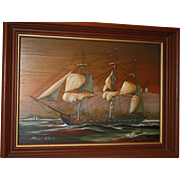 Clipper Ship Etching By Lawrence Forbes-Wolfe