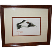 Framed Barnacle Goose Waterfowl Watercolor By Craig Peterson