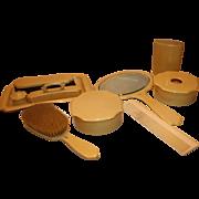 Vintage 9 Piece French Ivory (Celluloid) Vanity Dresser Set