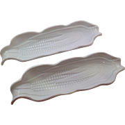 Vintage Pillivuyt France Porcelain Corn Serving Dishes