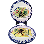 Italian Zanolli Pottery Fish Trivets