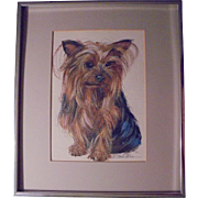 SALE Original Yorkshire Terrier Dog Painting by G Marlo Allen