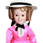 "Shirley Temple doll porcelain 14"" Danbury Mint Little Colonel, very good condition, origi"