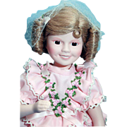 "Shirley Temple doll porcelain 14"" Danbury Mint Rebecca From 'The Littlest Rebel, very goo"