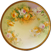 Signed Hand Painted Limoges Plate with Coronet Stamp