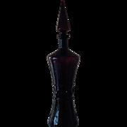 Vintage Rossini Empoli Italy Amethsyt Glass Bottle