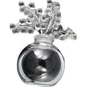 Crystal Lalique Clairefontaine Lily of the Valley Perfume Bottle