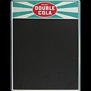 SALE 1960s Double Cola Advertising Sign Menu Board Tin Chalkboard
