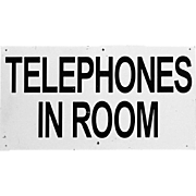 Midcentury Motel Sign - Telephones in Room - Golf Advertising