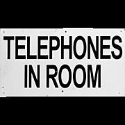 Midcentury Motel Sign - Telephones in Room - Golf Advertising