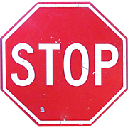 SALE Metal Stop Sign - Highway Municipal Government