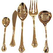 SALE Gold Plated Serving Flatware - 5 Pieces - F.B. Rogers