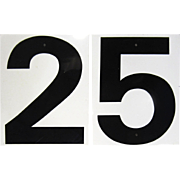 SALE Metal 2 & 5 Oil and Gas Price Number Signs, Backed by 1 & 6/9