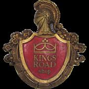 """SALE 1967 Kings Road Shop Advertising Display Sign - """"My Word Is My Bond"""""""
