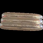 SALE Vintage Sterling Cigar Case
