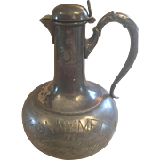 SALE Engraved Silver Plate Decanter