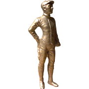Vintage Cast Aluminum Jockey