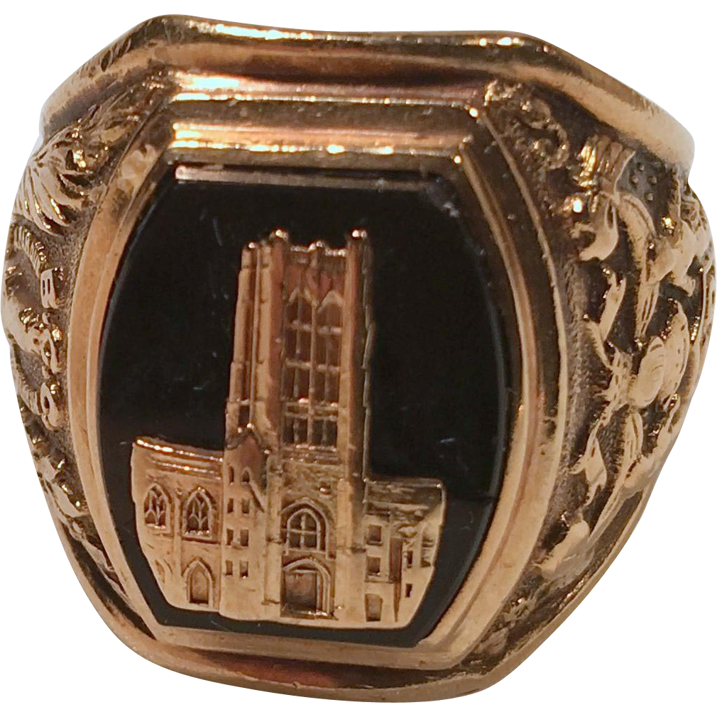 Baltimore City College 10K Vintage Gold High School Class Ring with from with
