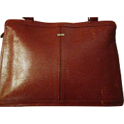 Lizard Leather Dark Corrida Red Shoulder Purse Bag from Phillippe- Vintage-70's-Very little ..