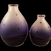 Lovely Blue Cobalt Vases Signed
