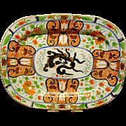 Antique English Coalport Porcelain Platter