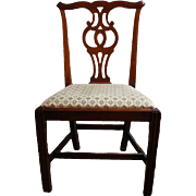 c. 1780 American Chippendale Mahogany Side Chair