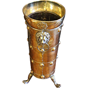 Edwardian Brass Umbrella Stand