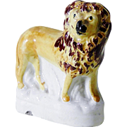Miniature Staffordshire Figurine of a Standing Lion - Mid to Late 19th Century