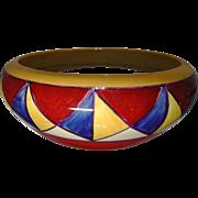 SALE Clarice Cliff 'Original Bizarre' Geometric Patterned Fruit Bowl - 1929