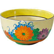 Clarice Cliff Hand-Painted GayDay Sugar Bowl - 1930's