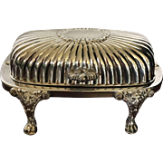 Vintage Silver Plate Covered Butter Dish, circa 1940s