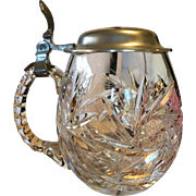 Cut Crystal and Pewter Stein