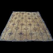 SALE Large Mat Nomad & Vintage Mauritanian Sahara Straw Mat, 10x13 Vintage Rug Beni Ourain ...