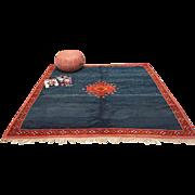 SALE Knotted Square Blue Berber Morocco Rug 6x6 Berber Rug Handmade Rug Berber Rug Beni ...
