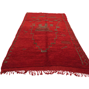 SALE Red Moroccan Rug 5x8 Vintage Handwoven Wool Carpet Teppich Tapis Bohemian rug alfombras .