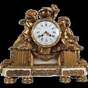 Exquisite 19th Century Bronze Mantle Clock