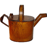 Antique English Tole Ware Watering Can ~ Hot Water