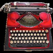 Vintage 1930's ROYAL Red Portable Typewriter Original Case