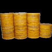 Vintage Catalin~Bakelite Butterscotch Poker Chips Beautiful Marbling