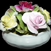 Vintage Multi Colored Roses Bowl Coalport Bone China