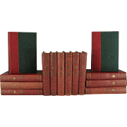 Red Rose and Green Book Set of Works of Luise Mühlbach, S/14