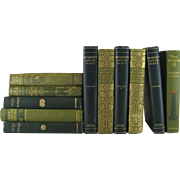Green Decorative Victorian Book Collection, S/11