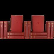 Antique Red Harvard Classics, Set of 12