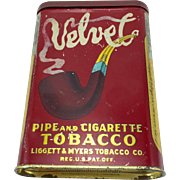 Vintage Velvet Tobacco Pocket Tin c. 1910