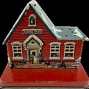 Vintage Tin School House Lollipop Display and Bank