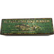 Vintage Al Foss Fishing Lure Tin Box - no lure - c. 1918