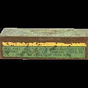 Vintage Al Foss Fishing Lure Tin box - no lure - c. 1926 - The Frog Wiggler