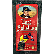 Tin Lord Salisbury Tobacco Sign